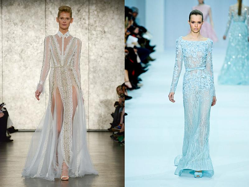 Платья прозрачные с вышивкой