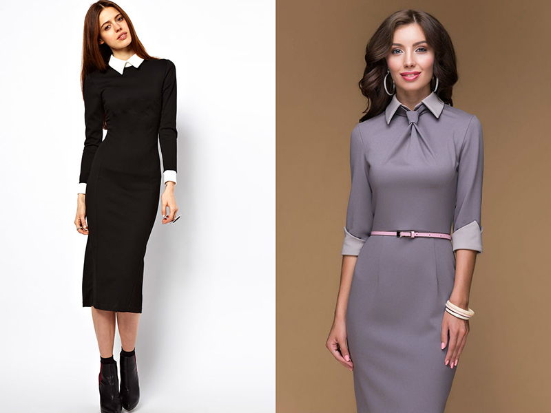 Купить Стильное Деловое Платье В Москве
