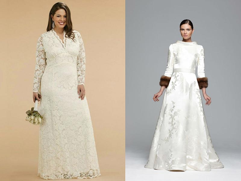 Платья для венчания с руками