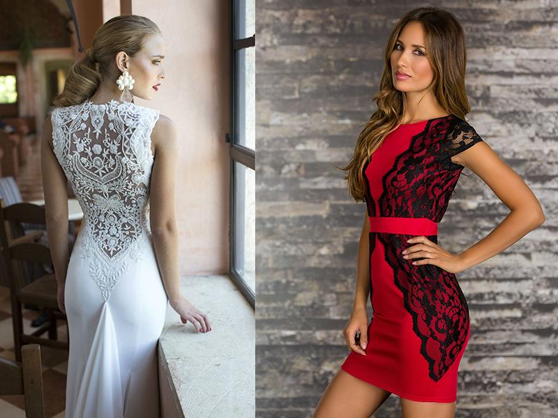 Платья с гипюровыми вставками фасоны