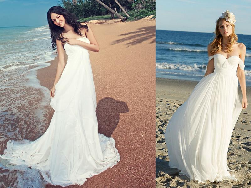 Платья для церемонии на море