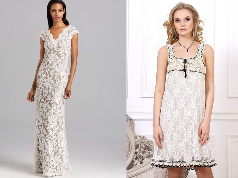 Платья и костюмы из гипюра