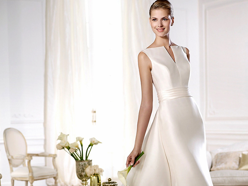 Свадебное платье шелк атлас