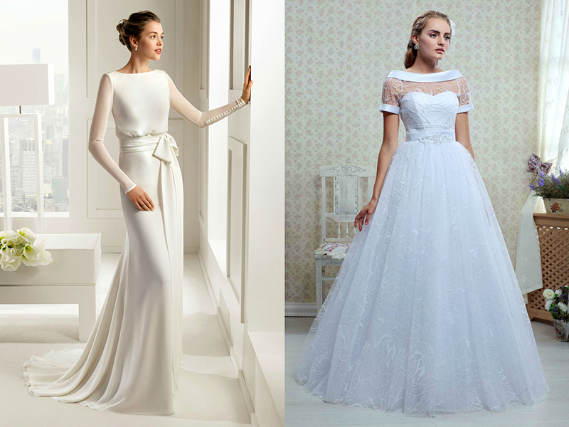 Платье для скромных невест