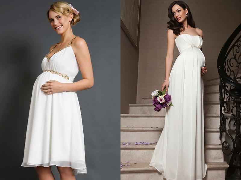 Свадебные платья для беременных  большой обзор существующих моделей 21834e21f45