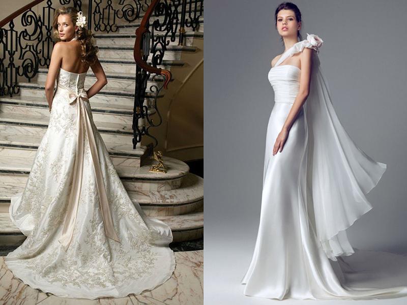 ca6efb4d44bd Шлейф может украшать вечернее платье практически любого фасона. Начинаться  шлейф может от линии талии. А в моделях с завышенной талией шлейф  начинается от ...