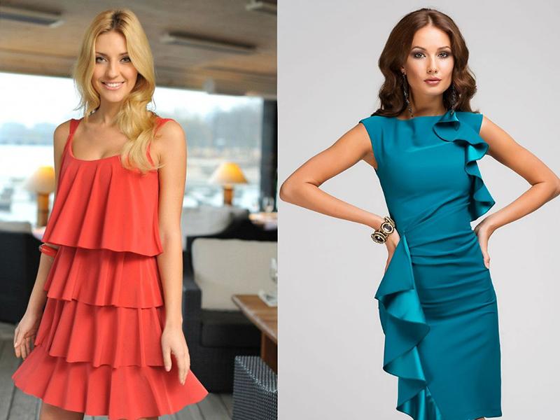 Красное платье с множественными воланами выглядит очень выразительно и  привлекает всеобщее внимание. Яркие броские наряды выбирают самодостаточные  и сильные ... 2ceb66dacbc