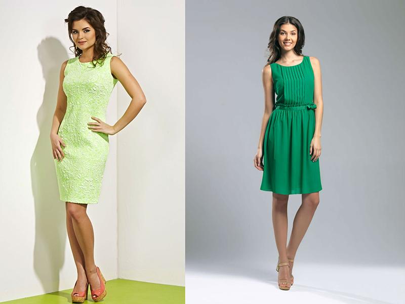 Платья зелёного цвета фасоны