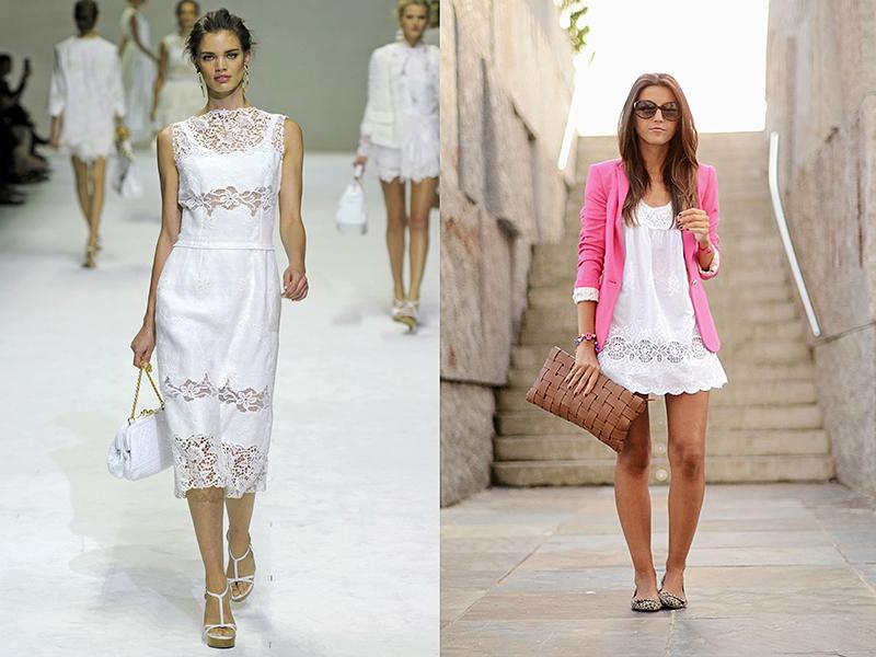 Платье из льняного шитья