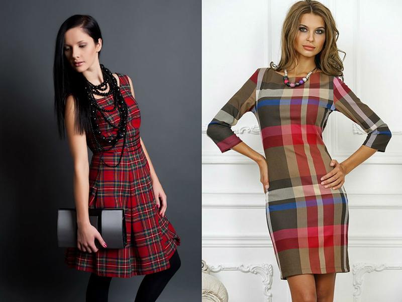Купить Платье Шотландка