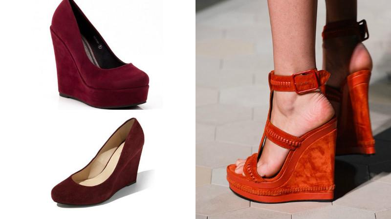 фото замшевых туфель на среднем каблуке