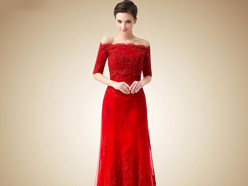 образцы красных платьев