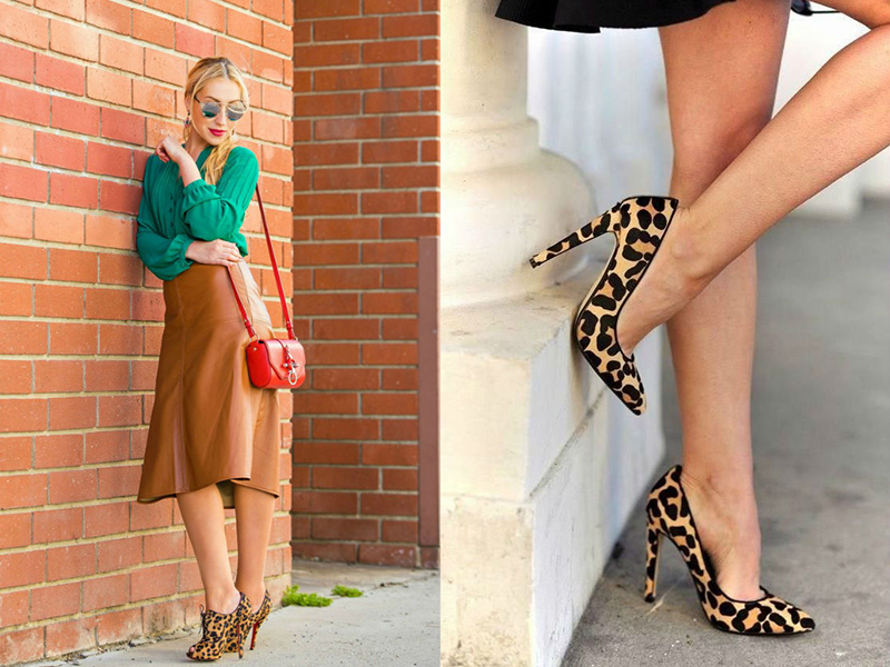 Что одеть с леопардовыми туфлями