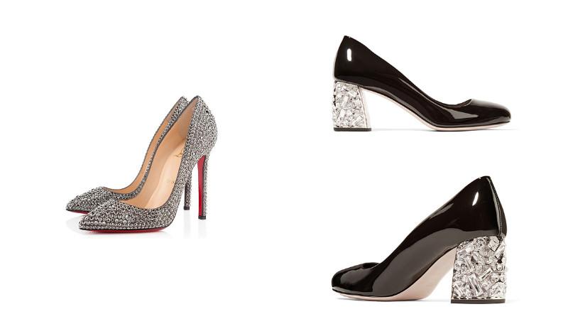 91537dfd6187 Бренд Vitacci предлагает комфортные модели обуви с квадратным каблуком  высотой 2-3 см и украшенным стразами мыском. Поклонницы бренда Mascotte  смогут ...