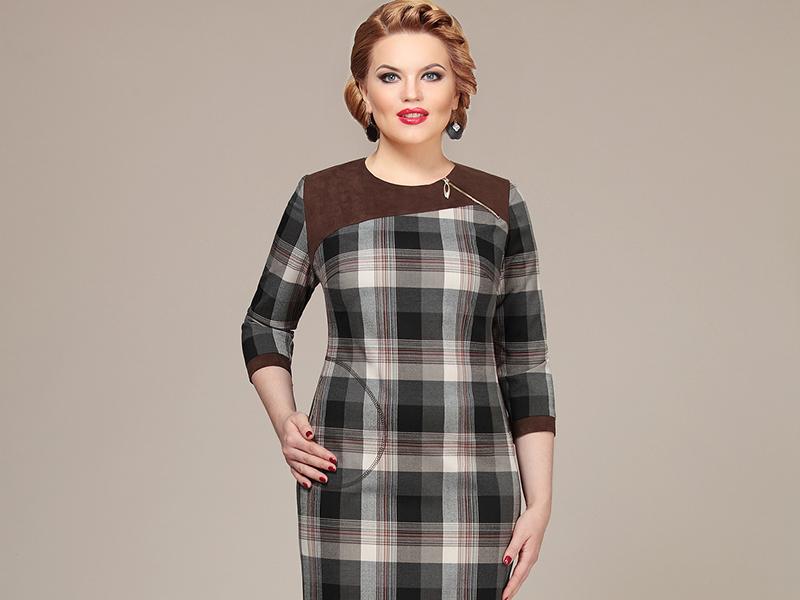 ad152af0781a Поэтому, выбирая платья в клетку для полных женщин, нужно быть особенно  внимательной.