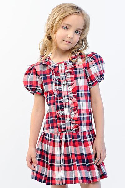 Платье в клеточку для девочки