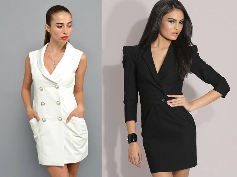 Модели пиджак и платье