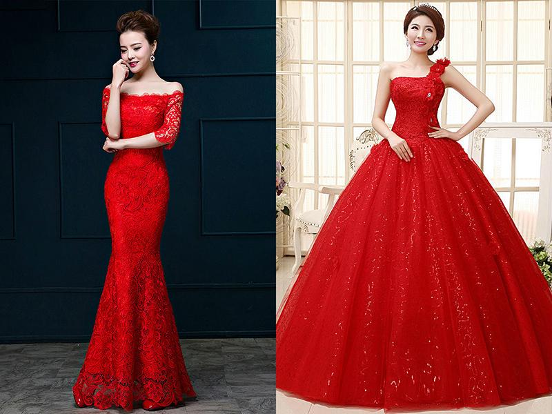 Шикарная фигура в платье красном фото
