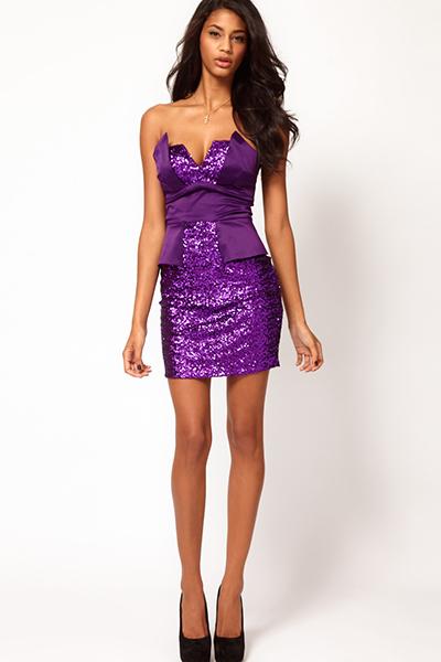 Красивые платья фиолетового цвета