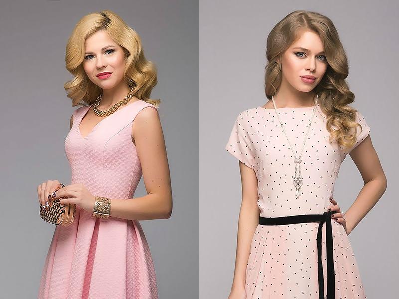 Как украсить розовое платье