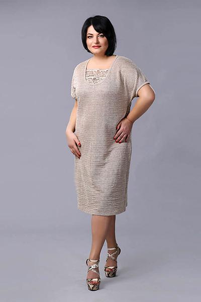 Льняное платье в стиле бохо 197