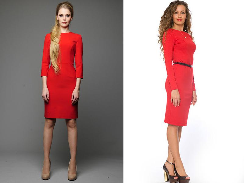 Красное платье для худых
