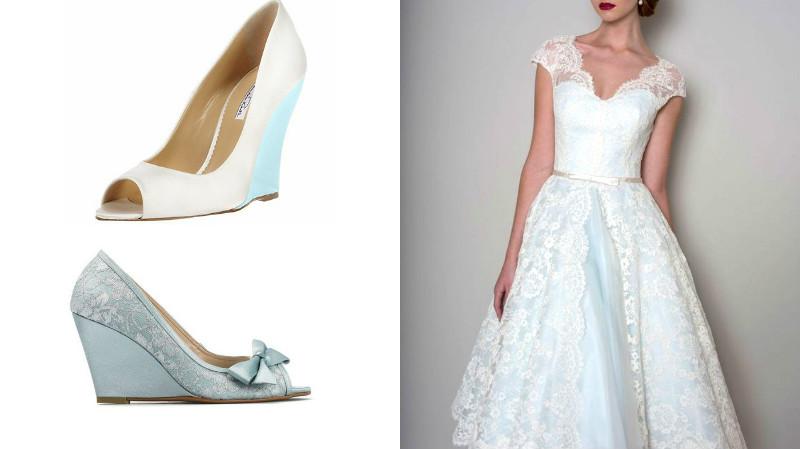 Платье цвета айвори и белые туфли