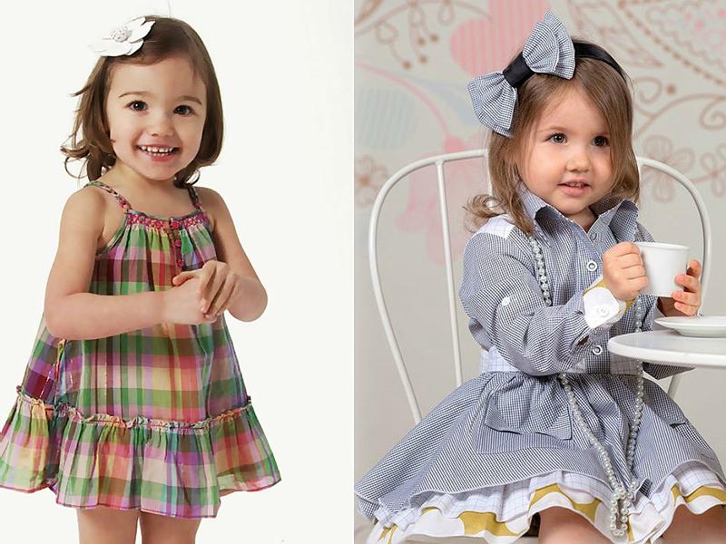 Платье шотландка детское
