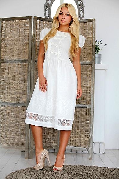 Льняные платья от кутюр