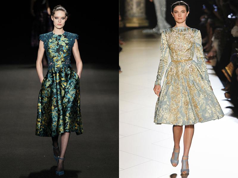 Парча модели платьев