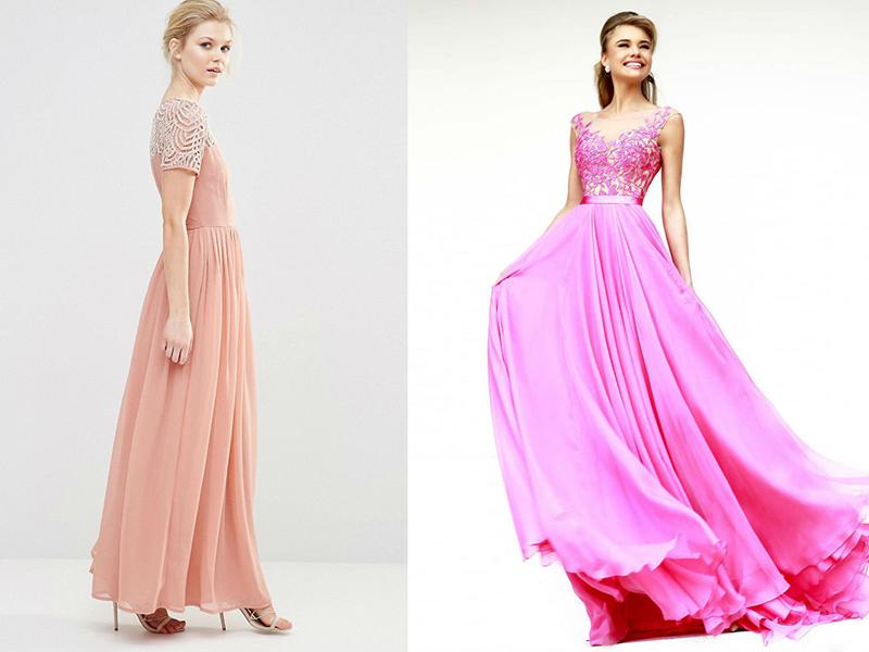 Купить розовое нарядное платье