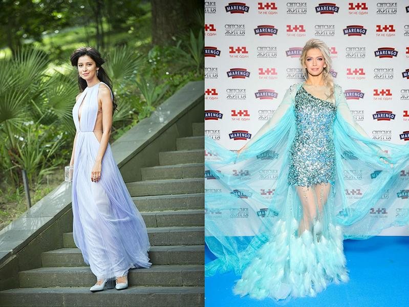 Вера брежнева и синее платье