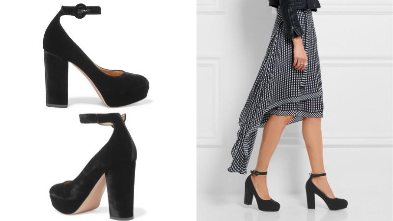 фото чёрные туфли на каблуке