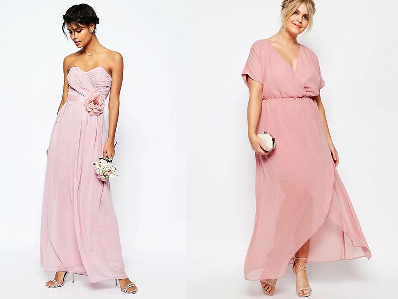 Платье розовое с цветами на талии