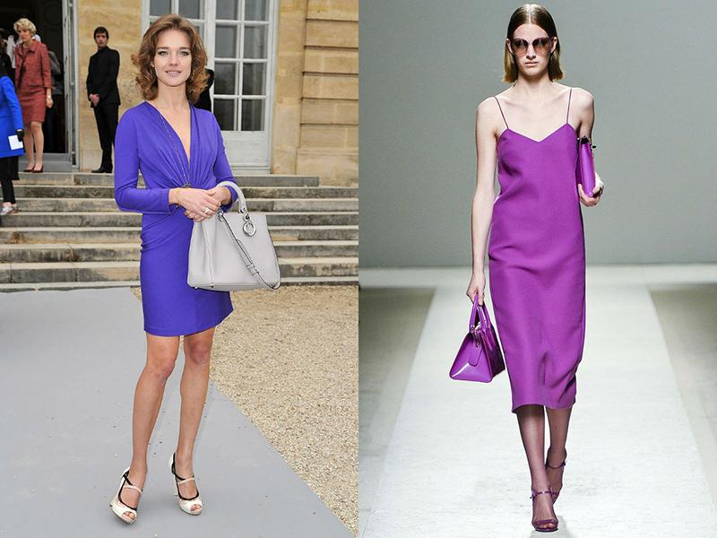 Фиолетовое платье что означает