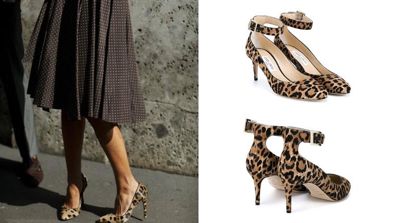 Платье леопардовое и обувь