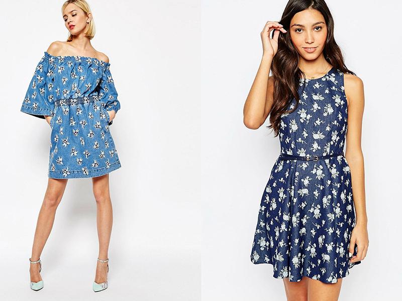 Синие летние платья фото