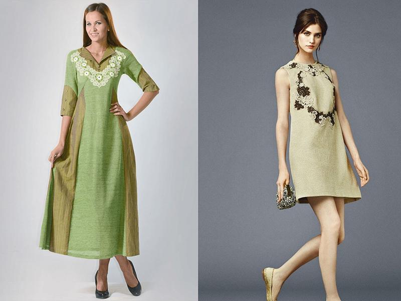 Стильные платье из льна