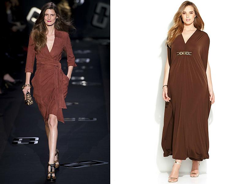 Платья коричневого цвета в пол