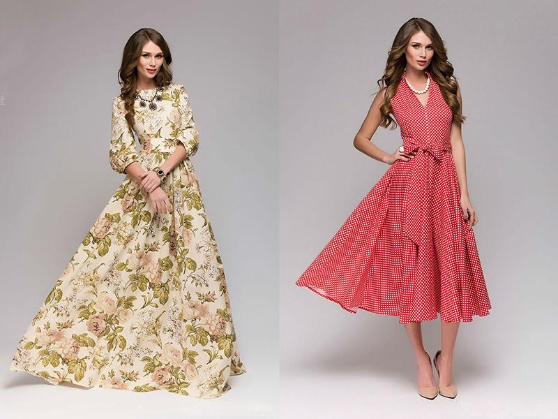 Расклешенные платья макси