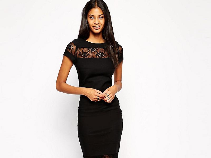 платья черное фото