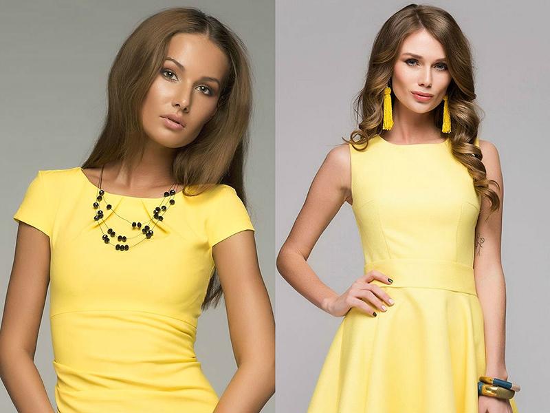 Какое украшение подойдет к желтому платью