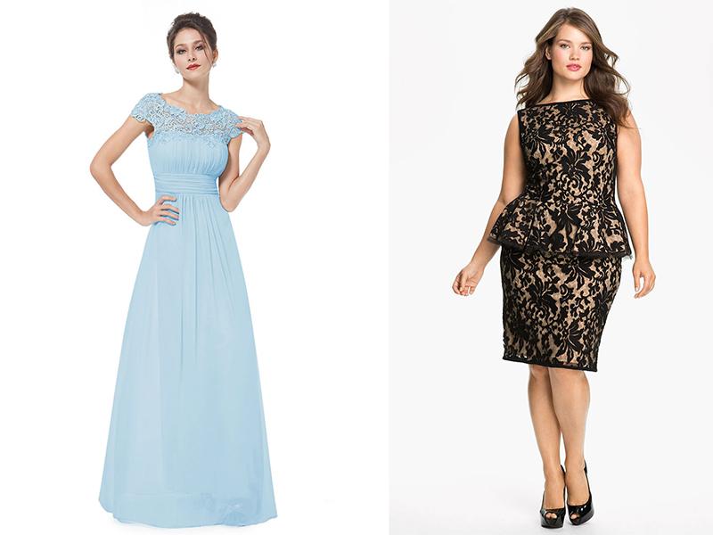 Фасоны платья комбинированные с кружевами