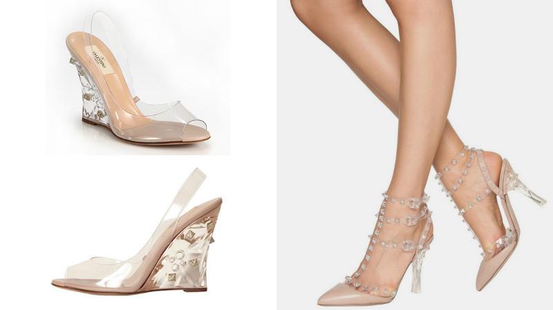 модные полупрозрачные туфли лодочки