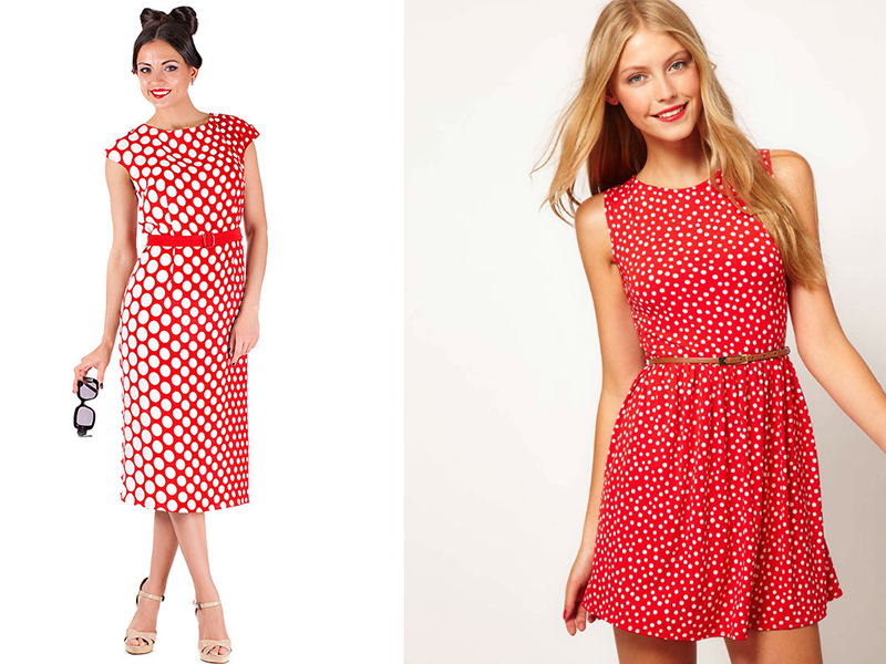 Платье из красной ткани