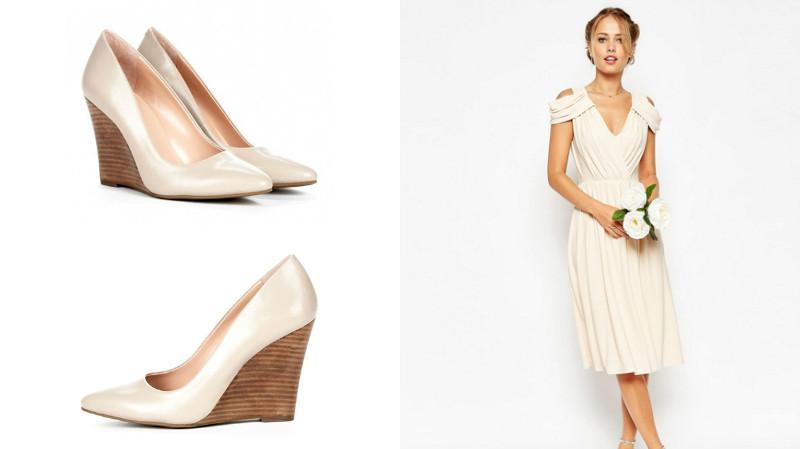 Цвет обуви к платью айвори