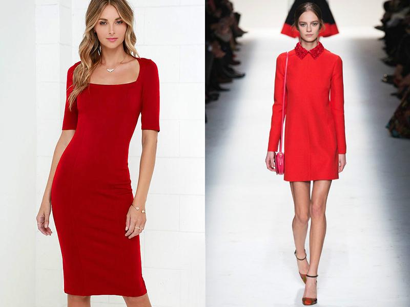 Аксессуары подобрать к красному платью