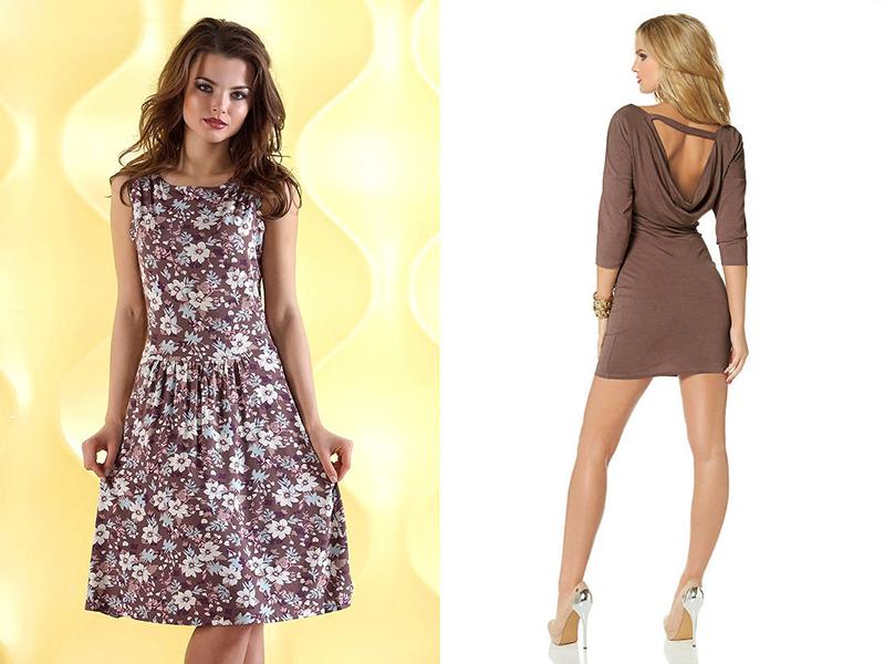 Коричневые платья фасоны