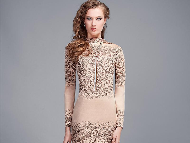 Платье трикотажное покрой