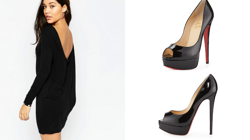 Платье к туфлям на шпильках